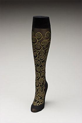 Trouser socks in BlkGold_KLIMT