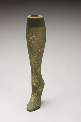 Trouser socks in Olivegold_MEHNDI