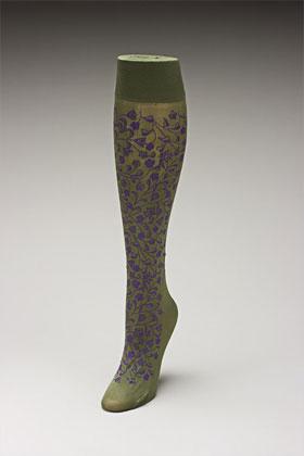 Trouser socks in Olivepurp_FLOWERS