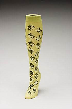 Trouser socks in SpGreenBlk_SQUARES