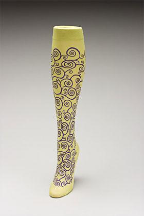 Trouser socks in SpGrnPurp_KLIMT