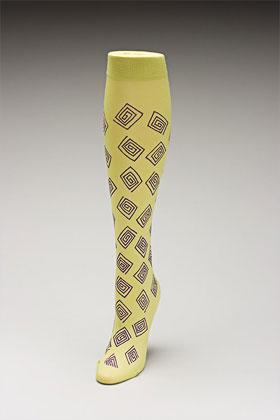 Trouser socks in SpGrnPurp_SQUARES