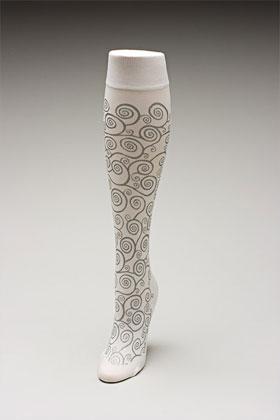 Trouser socks in WhSilv_KLIMT