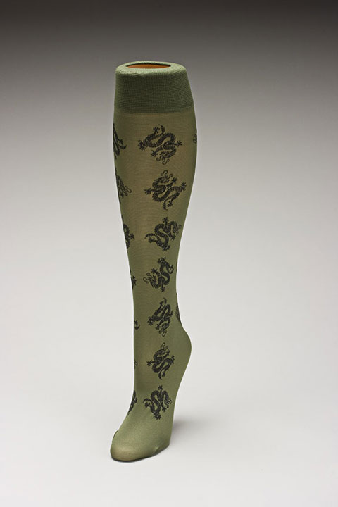 Trouser socks in Oliveblk_DRAGONS