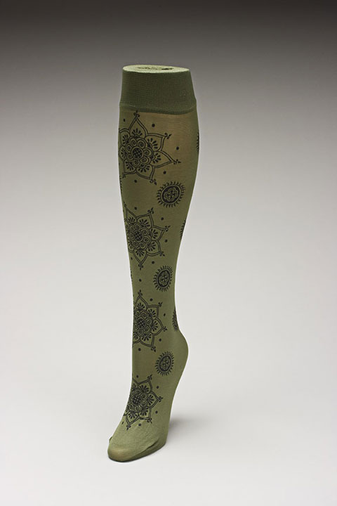 Trouser socks in Oliveblk_MEHNDI