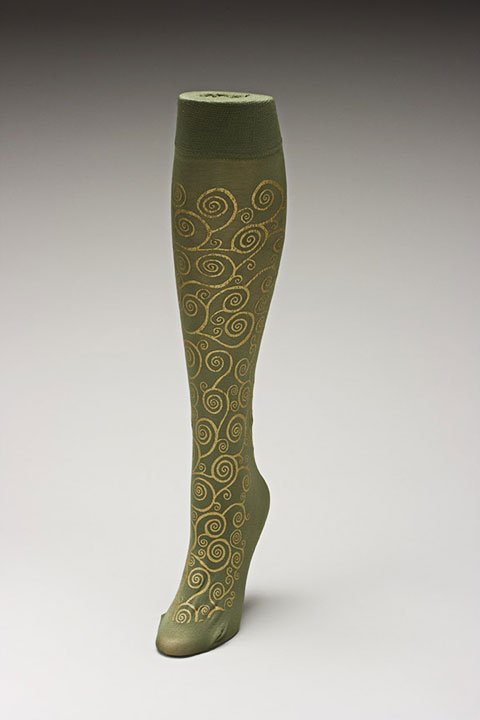 Trouser socks in Olivegold_KLIMT