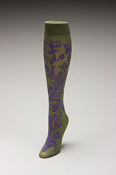 Trouser socks in Olivepurp_LACE