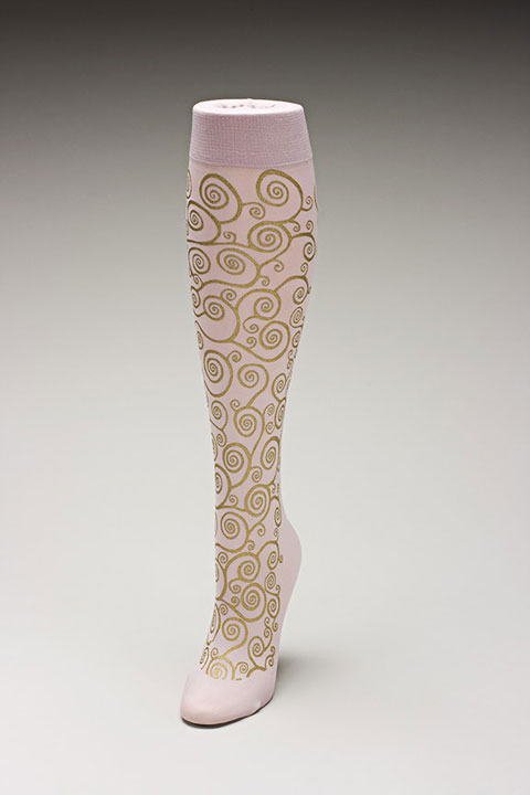 Trouser socks in PinkGold_KLIMT