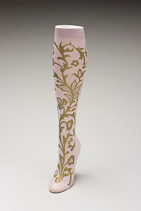 Trouser socks in PinkGold_LACE
