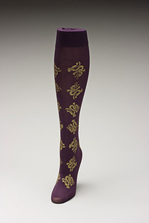 Trouser socks in PurpGold_DRAGONS