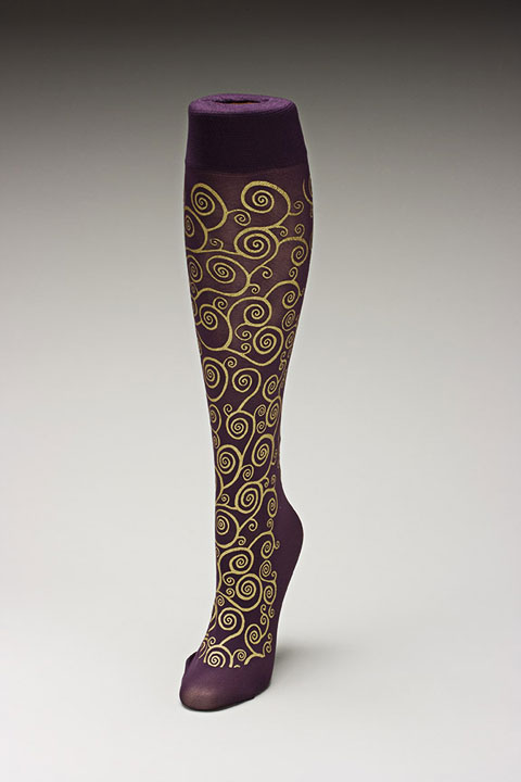 Trouser socks in PurpGold_KLIMT