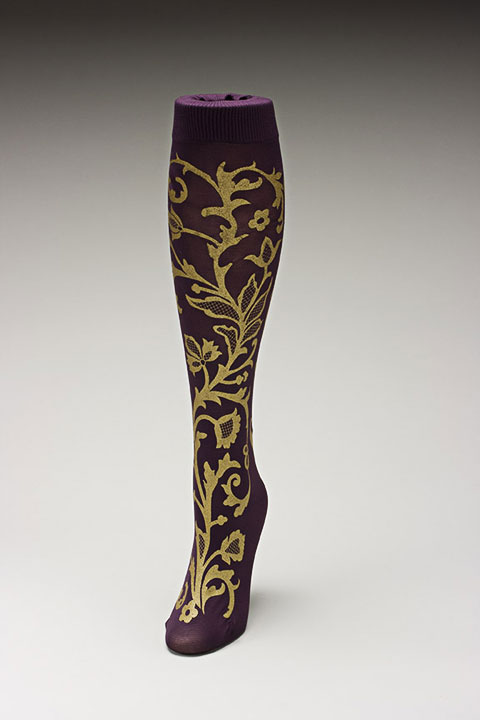 Trouser socks in PurpGold_LACE