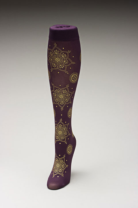 Trouser socks in PurpGold_MEHNDI