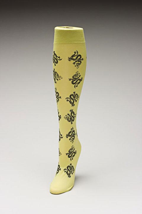 Trouser socks in SpGreenBlk_DRAGONS