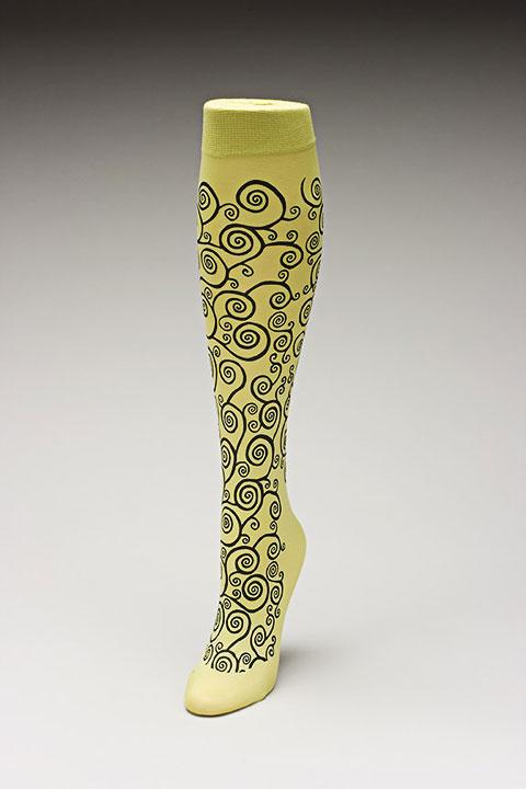 Trouser socks in SpGreenBlk_KLIMT