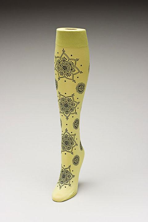 Trouser socks in SpGreenBlk_MEHNDI